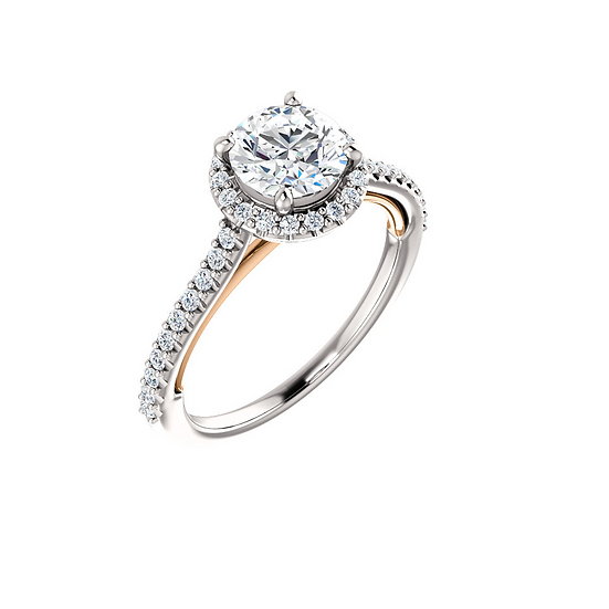 Diamond Halo Engagement Ring Setting