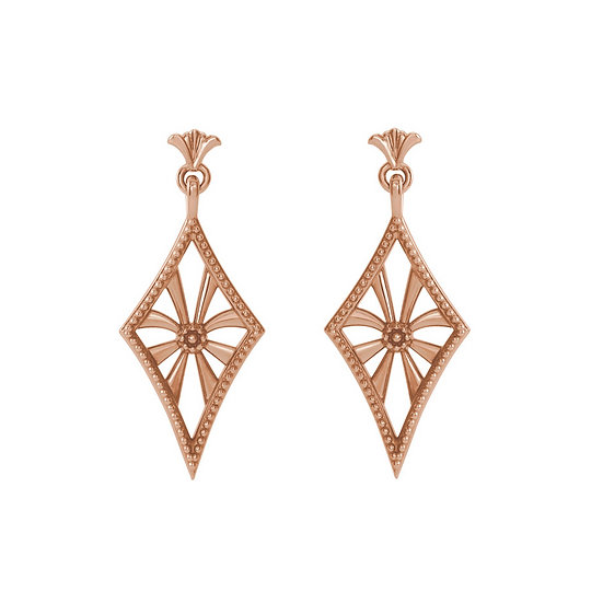 Rose Gold Vintage Earrings