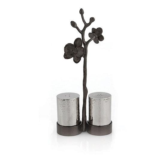 Black Orchid Salt & Pepper Set