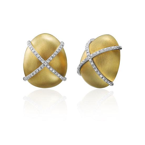 Twist Rope X Diamond Earrings