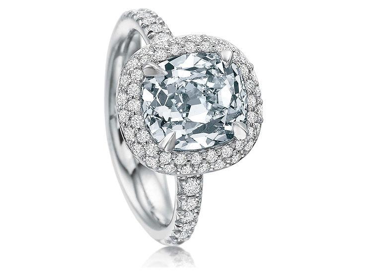 Pave Halo Engagement Ring Setting