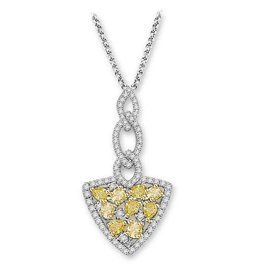 Yellow Diamond Spear Pendant