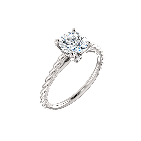 Twist rope engagement ring setting