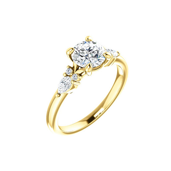 Diamond Deco Engagement Ring Setting