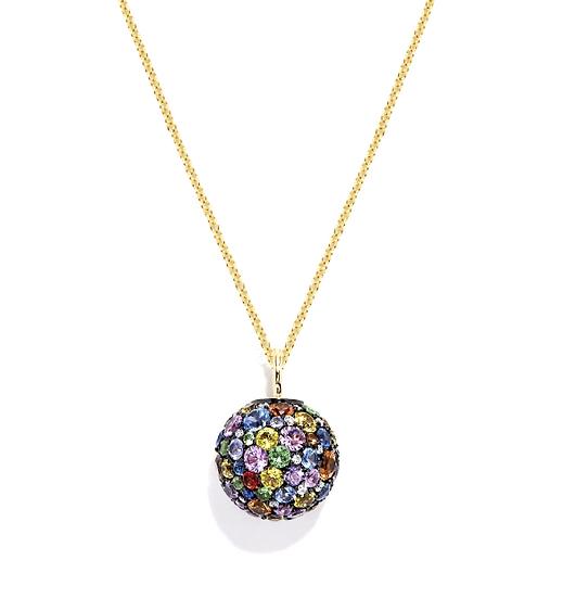 Sapphire Diamond Globe Pendant