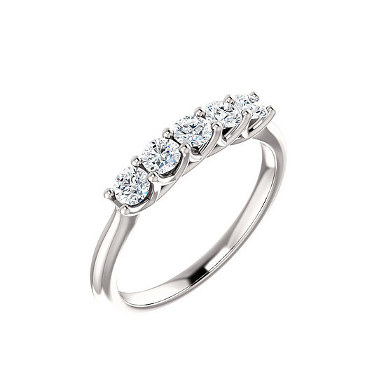 Five Stone Diamond Band 3mm