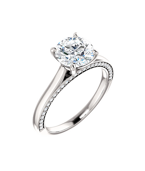 Diamond Solitaire Accented Ring Setting