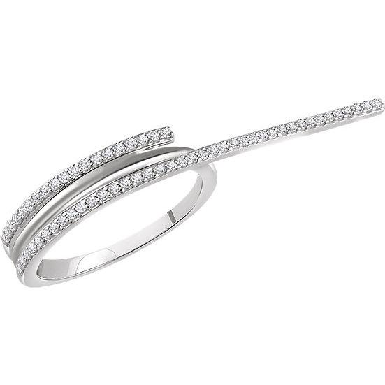 Two Finger Diamond Ring