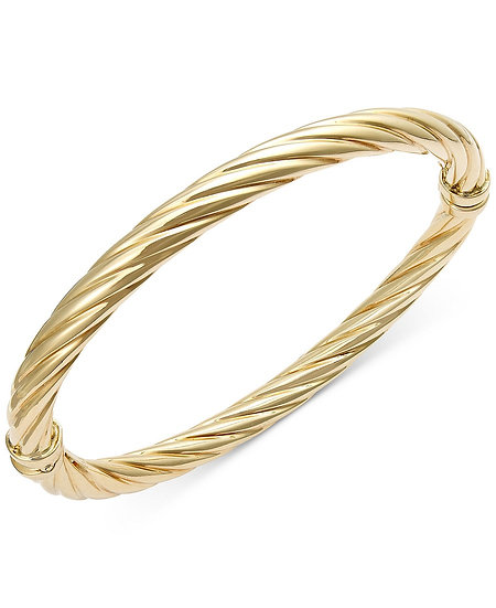 Gold Swirl Bangle