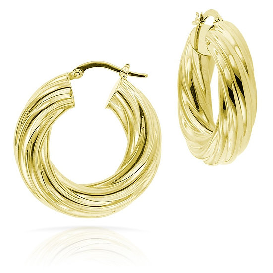 Twist Gold Earrings