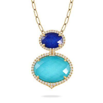 Lapis Turquoise Necklace