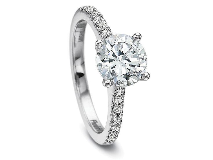 FlushFit Diamond Ring Setting