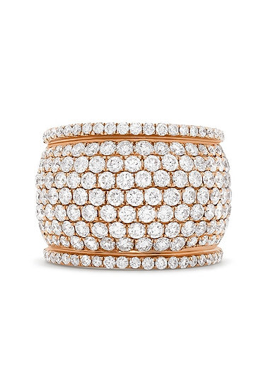 Rose Gold Wide Diamond Band