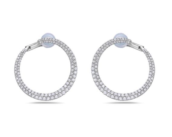 Diamond Wrap Around Earrings