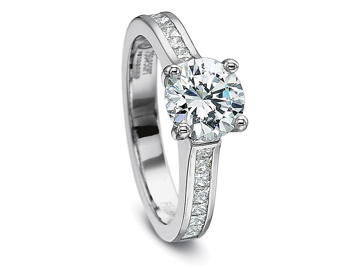 Solitaire Side Diamond Ring Setting