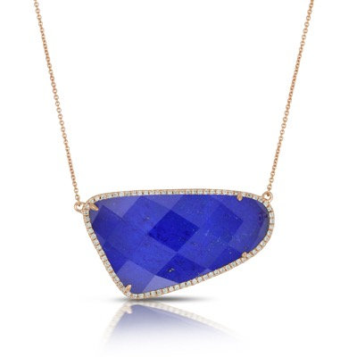 Lapis diamond necklace