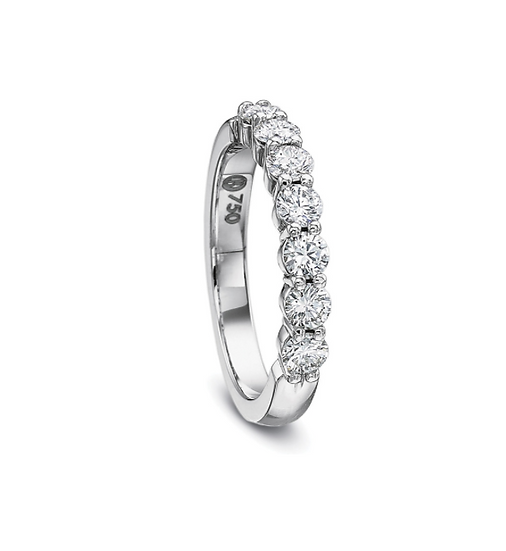 Diamond Share Prong Wedding Ring