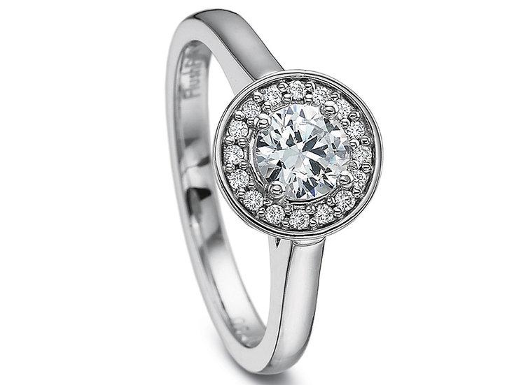 Single Halo Diamond Ring Setting