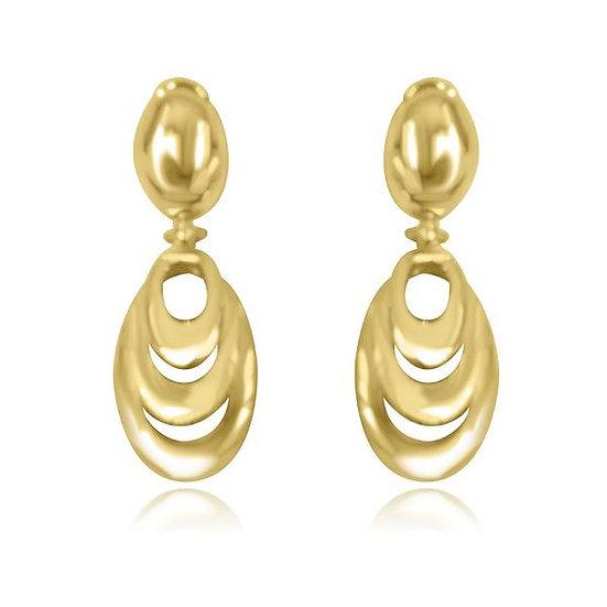 Gold Dangle Earrings. TC5608
