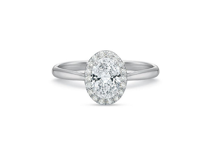 Olivia Oval Halo Engagement Ring