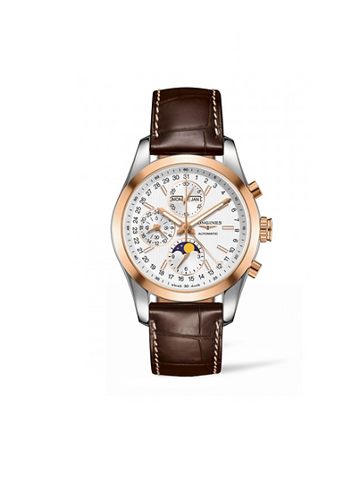 Conquest Chronograph Classic Brown Leather.  L27985723