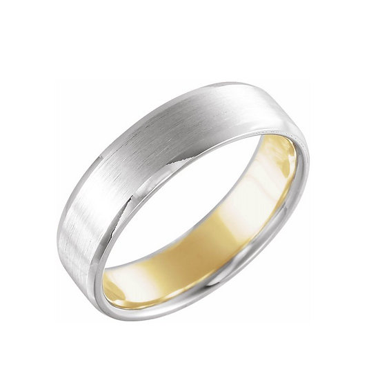 Men's Satin Finish Wedding Band 6mm