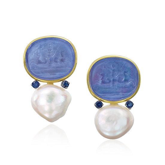 Bluino Venetian Sapphire Earrings