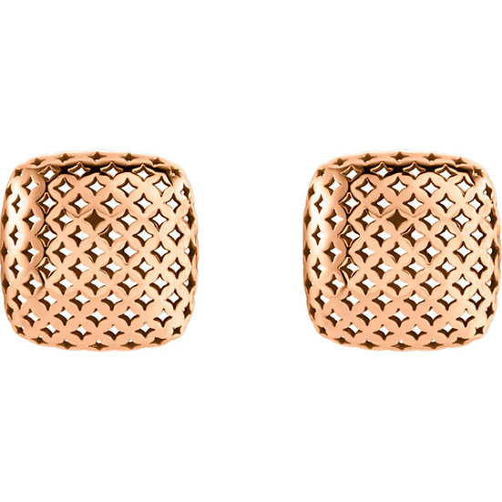 Pierced Style Rose Gold Earrings