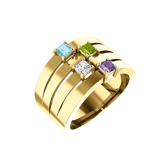 Four Stone Family Ring
