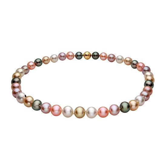 Multi Colour Pearl Necklace