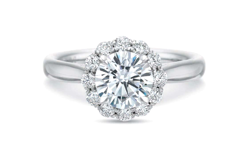 Blossom Halo Diamond Engagement Ring Setting