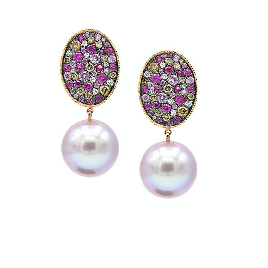 Multi Colour Pearl Earring
