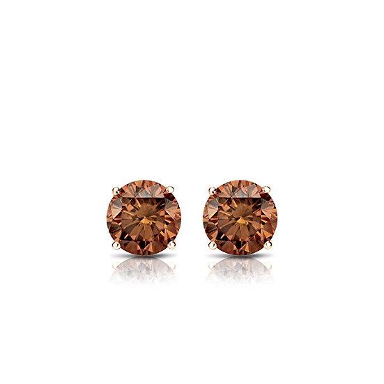 Brown Diamond Stud Earrings