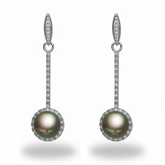 Tahitian Diamond Pearl Earrings