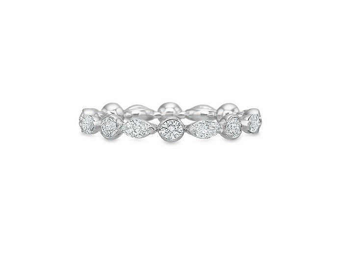 Silhouette Marquise Round Eternity Band
