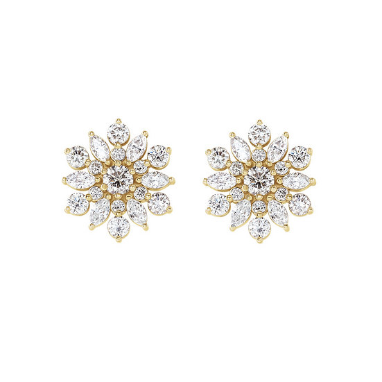 Diamond Vintage Inspired Stud Earrings