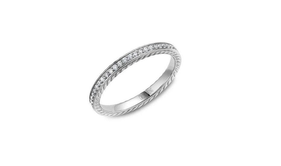 Diamond Rope Wedding Ring