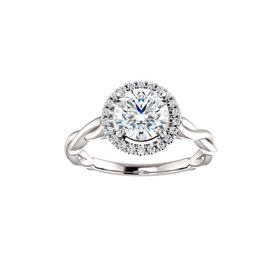 Infinity Diamond Halo Engagement Ring Setting