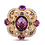 Thumbnail: Amethyst Diamond Ring