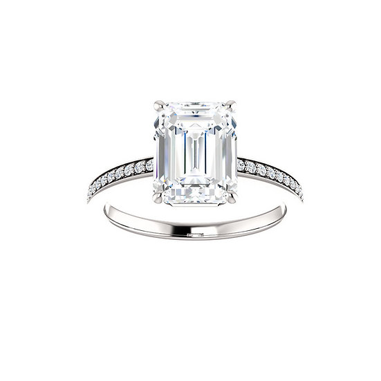 Emerald Cut Diamond Ring Setting