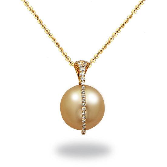 Golden South Sea Diamond Pendant