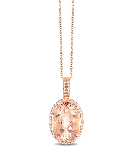 Morganite Diamond Pendant