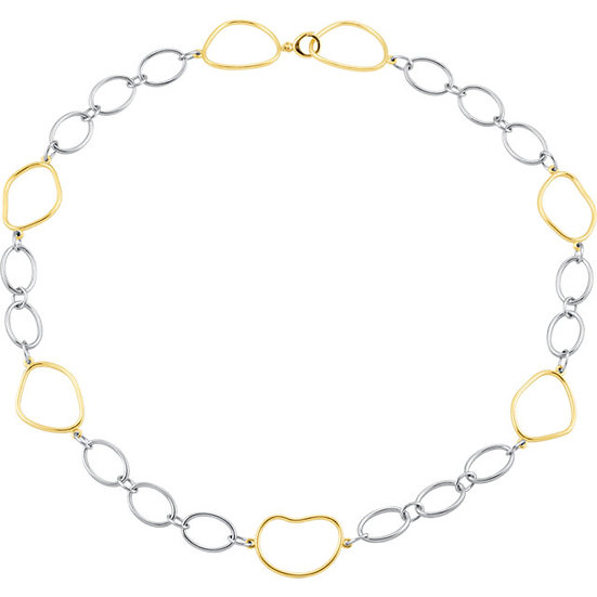 Gold & Sterling Silhouette Necklace