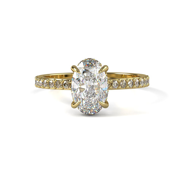 Desiree Oval Diamond Engagement Ring Setting