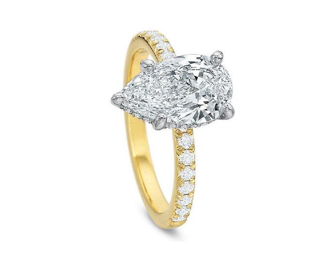 Desiree Pear Shape Diamond Engagement Ring