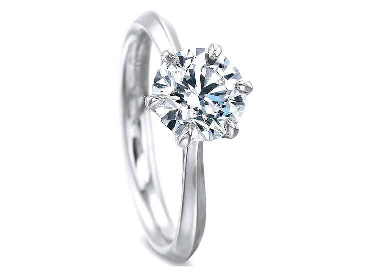Six Prong Solitaire Ring Setting