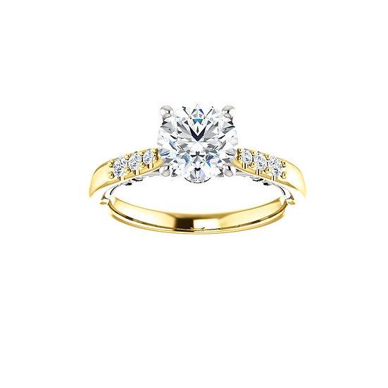 Vintage Diamond Engagement Ring Setting