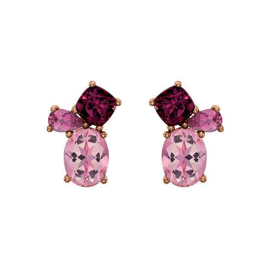 Multi Gemstone Cluster Earrings