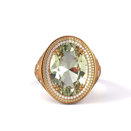Oval Green Sapphire Setting