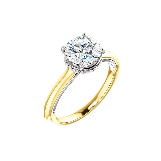 Solitaire Halo Gallery Engagement Ring Setting